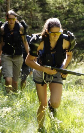 Guerilla Angriff beim outdoor LaserTag