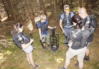 Der LaserTag refill point im Laser Spielgelände Wald