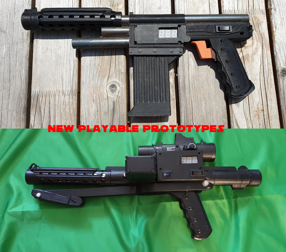 Neue LAZER live action Waffen Prototypen spielbar