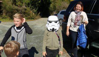 Der kleinste Stormtrooper beim outdoor Laser Spiel in Kärnten