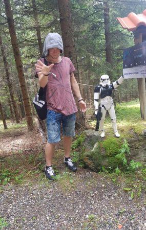 Force User am Laser Spiel Areal