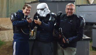Laser Spieler stimmen sich auf die Star Wars Zukunft ein