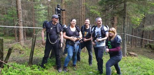 Die Laser Spieler von Pixelconnect in unserem Wald