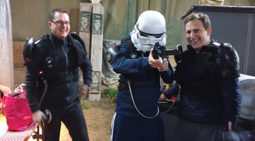 Stormtrooper Angriff beim Laser indoor Spiel